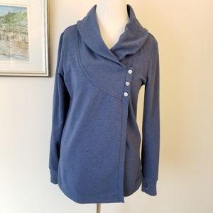 Danskin Blue Wrap Sweater - S